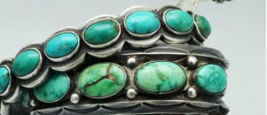 Photo of a Navajo turquoise bracelet