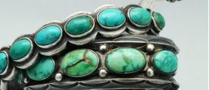 Photo of a Navajo turquoise bracelet